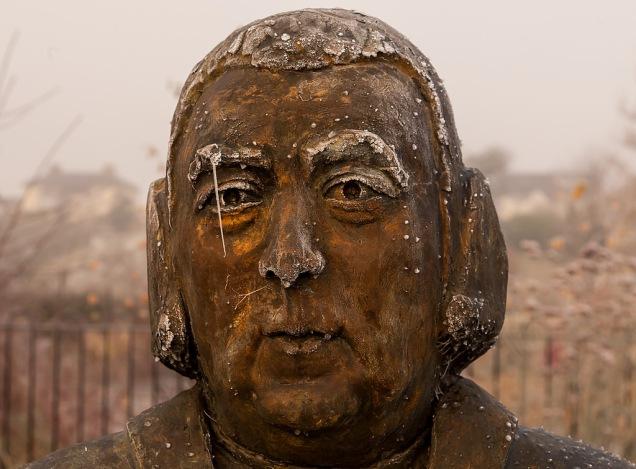 bust of john newton