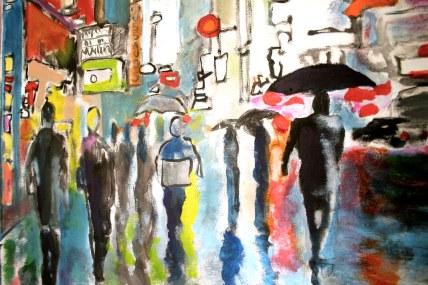 painting city scene