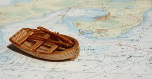chart and canoe